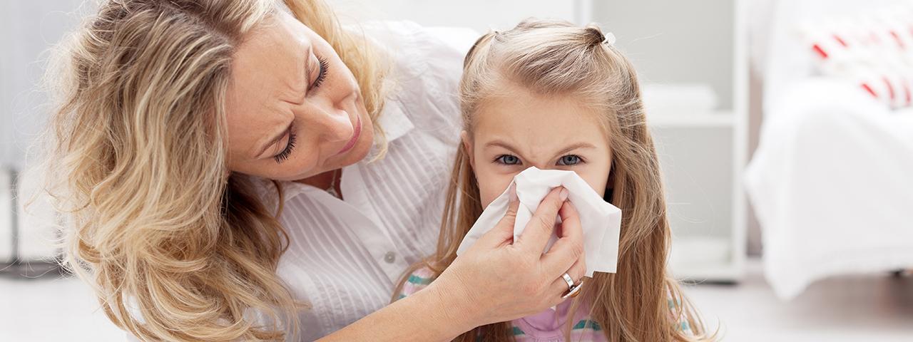 Kind mit allergischer Reaktion
